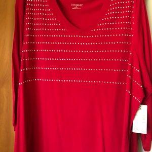 Catherine's Red Embellish Sweater
